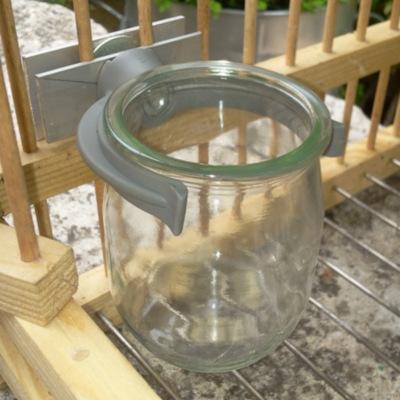 Cage à grive support pot en verre