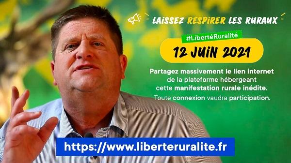 manifestation virtuelle samedi 12 Juin 2021 laissez respirer les ruraux